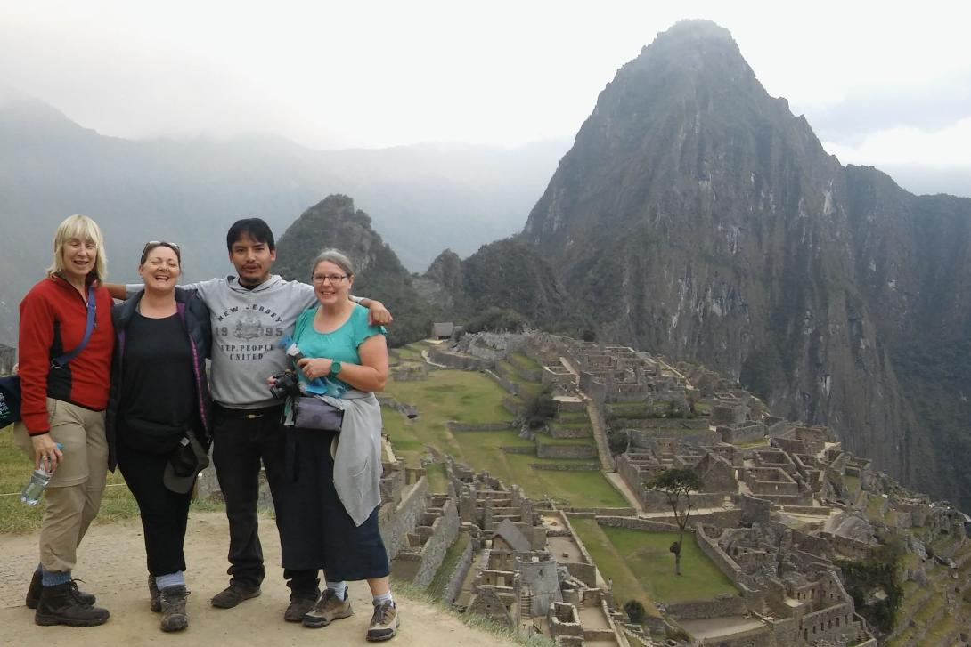 Projects Abroad older volunteers on a grown-up gap year at Machu Picchu